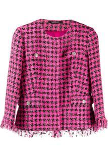 Tagliatore Jaqueta Meg De Tweed Com Franjas - Rosa