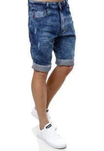 Bermuda Jeans Masculina Dixie Azul Escuro