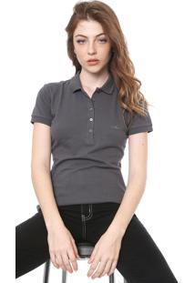 Camisa Polo Colcci Reta Logo Cinza