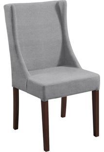 Cadeira De Jantar Sinar Couro Ecológico Chumbo