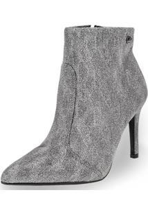 Bota Feminina Ankle Boot Vizzano - 3049225 Prata 34