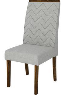 Cadeira Aurea Linho Claro Rústico Malbec