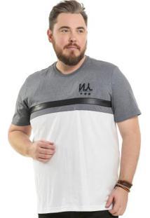 Camiseta Com Manzi Over Branco Bgo Plus