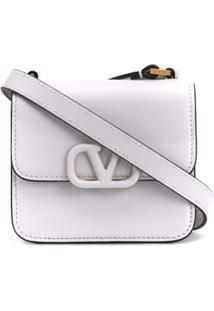 Valentino Bolsa Transversal Valentino Garavani Vsling Micro - Branco