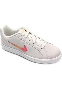 Calçado Tênis Feminino Couro Nike Old School Conforto Royale Court Wmns