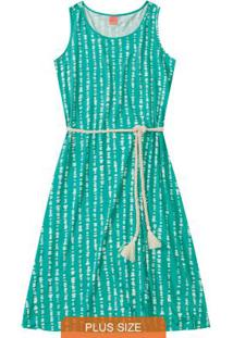 Vestido Verde Midi Com Cinto