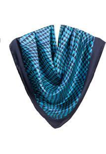 Lenço Rede Dark Blue-Azul Noite-Un
