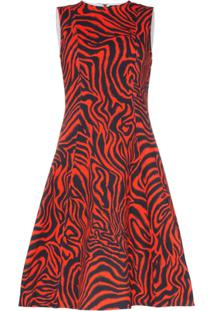 Calvin Klein 205W39Nyc Vestido Midi Estampado - Vermelho