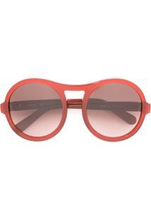 4d9306df7dcf7 ... Chloé Eyewear Óculos De Sol Aviador - Vermelho