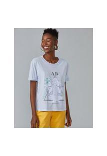 Amaro Feminino T-Shirt Elemento Ar, Lilás