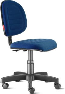 Cadeira Escritório Executiva Costura Azul Noturno