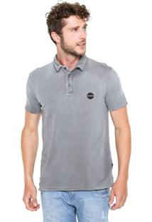 Camisa Polo Replay Estonada Cinza