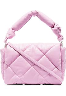 Stand Studio Wanda Diamond-Quilting Shoulder Bag - Rosa