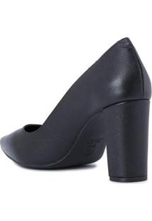 Scarpin Black Block Heel Cs Club - Feminino-Preto