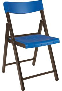 Cadeira Dobrável Tramontina Potenza 13794084 Tabaco E Azul
