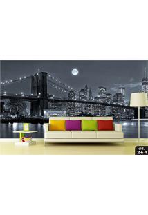 Papel De Parede 3D Cidades Pontos Turisticos Paisagens Adesivo Decorativo 1.40X2.98M Painel Fotográfico