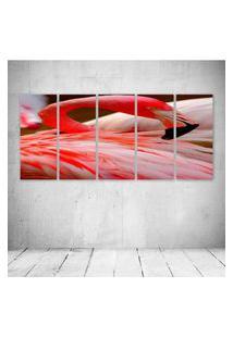 Quadro Decorativo - Flamingo (2) - Composto De 5 Quadros