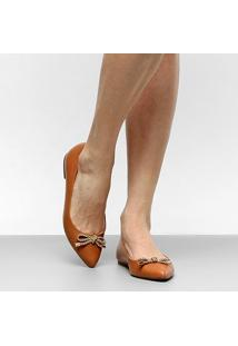 Sapatilha Shoestock Bico Fino Cordão Feminina - Feminino