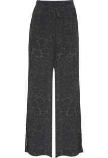 Calça Feminina Silk Lynx - Animal Print