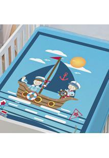 Cobertor Infantil Jolitex Tradicional Marinheiro Azul Masculino - Transparente - Dafiti