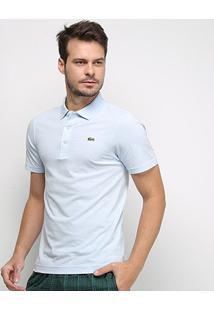 Camisa Polo Lacoste Manga Curta Masculina - Masculino-Azul Claro
