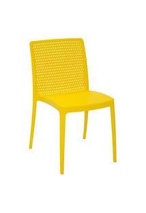 Cadeira Tramontina 92150000 Isabelle Polipropileno E Fibra De Vidro Amarelo