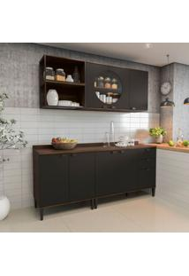 Cozinha Compacta Soul 7 Pt 3 Gv Jacarandá E Preta