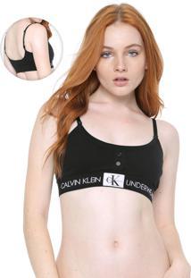 Top Calvin Klein Underwear Monogram Preto
