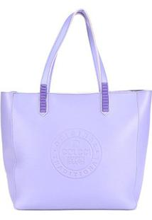 Bolsa Colcci Shopping Bag Avesso Color Feminina - Feminino-Roxo+Azul