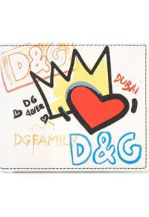 Dolce & Gabbana Carteira 'Dubai Graffiti' De Couro - Branco