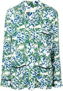 Victoria Victoria Beckham Camisa De Pijama Floral - Verde