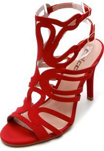 Sandália Colcci Lasercut Vermelha