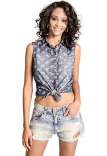 Camisa Regata Jeans Colcci