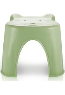 Banquinho Plástico Infantil Jacki Design Suporta Até 45 Kg Verde