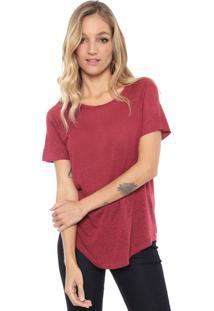 Camiseta Maria Filó Básica Vinho