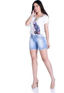 Blusa Tshirts Zigma Amanda Off White - Tricae