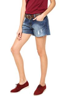 Bermuda Jeans Sommer Reta Azul