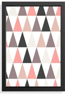 Quadro Love Decor Decorativo Geomã©Trico Rosa/Cinza - Rosa - Dafiti