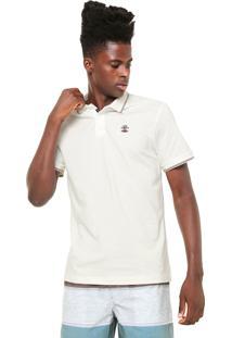 Camisa Polo Rip Curl Reta The Search Off-White