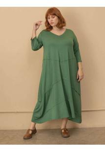 Vestido Lídia Plus Size Verde-Gg Verde