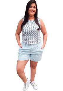 Blusa Crepe Linda D+ Regata Azul (4007) - Kanui