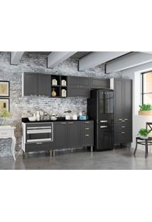 Cozinha Compacta Nevada Ii 9 Pt 7 Gv Grafite E Branca