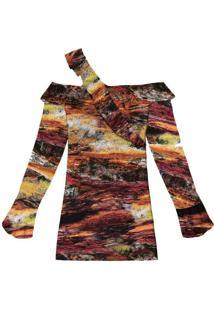 Vestido Assimétrico Em Tecido Glencoe - Lez A Lez