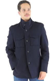 Casaco Fiero Em Lã Premium Oregon Azul Marinho