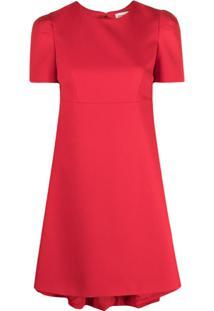 Alexander Mcqueen Vestido Gola Redonda - Vermelho