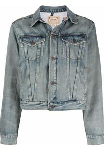 Polo Ralph Lauren Jaqueta Jeans Com Estampa Teddy Bear - Azul