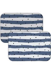Jogo Americano Love Decor Wevans Listras Azul - Kanui