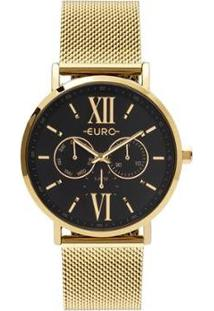 Relógio Euro Multi Glow Feminino - Feminino-Dourado