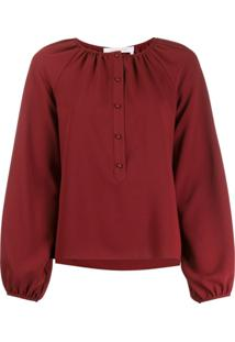 See By Chloé Button Down Collar Blouse - Vermelho