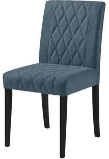 Cadeira Menta Assento Cor Azul Com Base Laca Preto Fosco - 46452 - Sun House